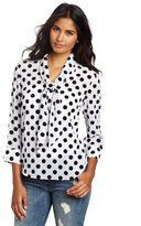 Buy Blair Waldorf from Gossip Girl's White Polka Dot Blouse '