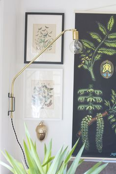 Brass Swing Lamp