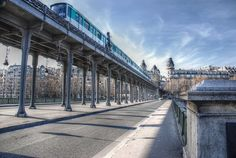 Pont de Bir-Hakeim aka le viaduc de Passy, Paris Metropolitan Line, Metro Paris, Last Tango, France, Sidewalk, Louvre, Photos, Bridges, Building