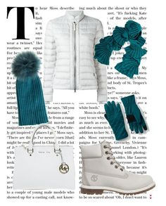 """""""Winter in white"""" by jeana-deming-barnhart on Polyvore featuring Woolrich, Timberland, Magaschoni, Yves Salomon, Michael Kors and Lands' End"""