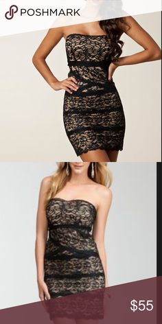 BEBE BLACK LACE WITH NUDE UNDERLAY COCKTAIL DRESS LIKE NEW PREOWNED CONDITION. BEAUTIFUL AND SUPER SEXY LACE DRESS. DOESN'T GET MUCH SEXIER THAN THIS! BEBE Dresses