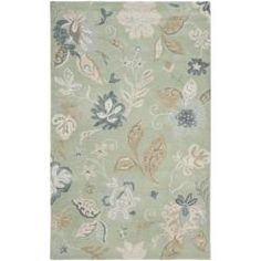 @Overstock - Bring a touch of fun with this whimsical Jardine rug. Premium wool is used in this hand-tufted handmade rug. Careful taste was used in color selection to craft this easy to decorate with rug.http://www.overstock.com/Home-Garden/Handmade-Botanical-Gardens-Light-Green-Wool-Rug-5-x-8/6559965/product.html?CID=214117 $192.99