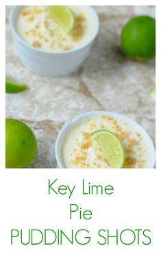 Key Lime Pie Pudding shots make small, boozy dessert everyone loves and they are so easy! Pudding Shot Recipes, Jello Pudding Shots, Jello Shot Recipes, Lime Recipes, Drinks Alcohol Recipes, Yummy Drinks, Alcohol Shots, Salad Recipes, Key Lime Desserts