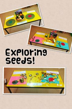 We named and talked about the different fruits and vegetables, and wondered if they looked the same inside. We then opened them up - the children loved scooping out the seeds and then chopping the fruit and vegetables up! Lots of opportunity to develop language and KUW.