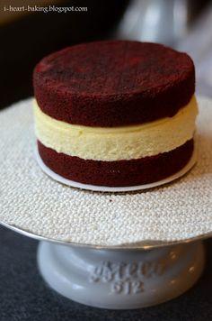 red velvet cake, cheese cake filling