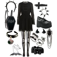 """Gothic style"" by twisted-candy on Polyvore"