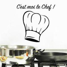 Stickers Français Dessin animé Stickers muraux pour Cuisine