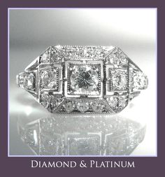 #Art #Deco #Style #Diamond #Ring In #Platinum #Engagement #Jewelry #The #Antiques #Room #Galway #Ireland  €2,450 Engagement Jewelry, Diamond Engagement Rings, Art Deco Jewelry, Vintage Jewelry, Galway Ireland, Platinum Jewelry, Selling Art, Art Deco Design, Vintage Diamond