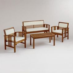 One of my favorite discoveries at WorldMarket.com: 4-Piece Belize Occasional Furniture Set