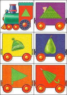 * Kleuren-vormen trein! 8-12