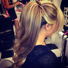 Thick Ponytail with Braid - Hairstyles and Beauty Tips