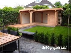 Lounge gardenluxe gardenhouse chilling Douglas nothing is impossible gardendesign landscaping debbyrijvers.nl