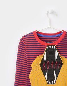 Chomp Red Lion Applique Jersey Top | Joules UK