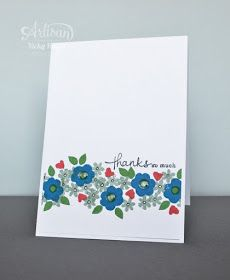 Stampin' Up ideas and supplies from Vicky at Crafting Clare's Paper Moments: Endless variety with Endless Thanks - Stampin' Up artisan blog hop