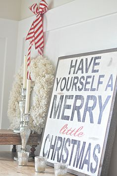 The Anthropologie Knock-Off Wreath » Between You & Me. I also love the sign - anyone know where you get it?