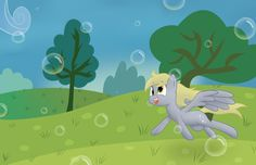 Derpy's bubble adventure by CyrusGuildArt.deviantart.com on @DeviantArt