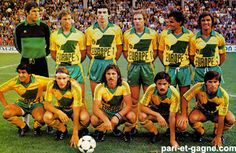 FC Nantes of France team group in Retro Football, Football Kits, Vintage Football, Football Soccer, Soccer Teams, As Monaco, Club, Fc Nantes, France Team