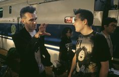 Morrissey and Boz Boorer in Japan during the 'Kill Uncle' tour ― photo by Kevin Cummins.