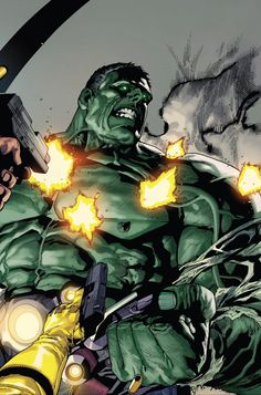 "Indestructible Hulk - ""Agent of S."" ""written by Mark Waid art by Leinil Francis Yu, Gerry Alanguilan, & Sunny Gho"" Hulk Marvel, Hulk 3, Spiderman, Red Hulk, Marvel Art, Marvel Heroes, Marvel Comics, Batman, Hulk Avengers"