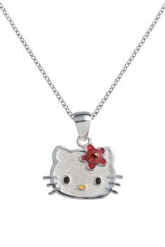 Hello Kitty Necklace Hello Kitty Clothes, Hello Kitty Jewelry, Hello Kitty Collection, Birthstone Pendant, Cat Necklace, Pendant Necklace, Cat Jewelry, Jewlery, Disney Jewelry