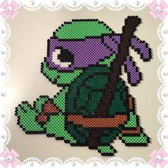 TMNT Donatello hama beads by design_by_sofia