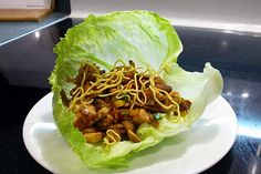 Ever since visiting Joey Tomato's, I've been on a mission to re-create their Asian lettuce wraps. These come pretty close!