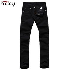 >> Click to Buy << 2017 4 seasons casual mens jeans high quality full cotton sand wash black pencil deinm pants slim full length jeans plus size #Affiliate