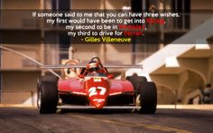 Gilles Villeneuve rubbed the lamp of the racing genie & his 4th wish was for SPEED! #SidewaysDrivingClub #HK