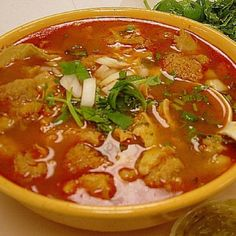 Menudo Rojo (Tripe Soup) Recipe by mexican detox soup Mexican Dishes, Mexican Food Recipes, New Recipes, Soup Recipes, Cooking Recipes, Favorite Recipes, Tripe Recipes, Mexican Cooking, Lamb Recipes