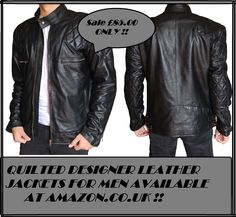 Visit: http://www.amazon.co.uk/Stylish-Leather-Designer-Jackets-MEDIUM/dp/B00ME9GPRW/ Another stylish iconic fashion piece has been created by our #fashionstore that is #quilted #designer #leather #jackets for men, it has classical #design and nice fit and its diamond cut pieces give this outfit a very #fashionable look so what are you waiting for get this desirable out wear now!!     #holiday #oct #pumpkin #scarymovies #horrorflickpick #16 #frightnight #catolantern #tshirts #clothing