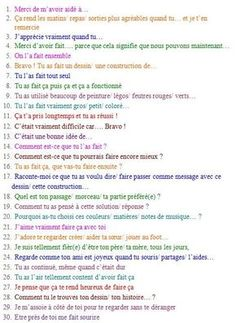 30 propositions pour encourager efficacement un enfant Education Positive, Kids Education, Special Education, French Lessons, Blog Love, Psychology Facts, Psychology Major, Learn French, Positive Attitude