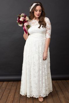 Lace Illusion Wedding Gown In 2019 Plus Size Dresses Simple