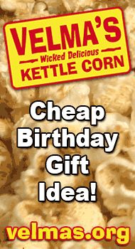 Cheap birthday gift ideas. Kettle corn makes a cheap birthday gift idea you can send to someone. $20 #unique #good #best #great #online #inexpensive #cheap #popcorn