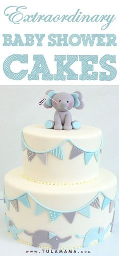 Click to view spectacular baby shower cakes for girls, for boys, for twins and for neutral baby showers. See onesie cakes, easy and simple cakes, diy cakes, elegant, woodland, owl, belly, funny, elephant theme cakes and more. Pin it. #babyshowercakes #babyshower