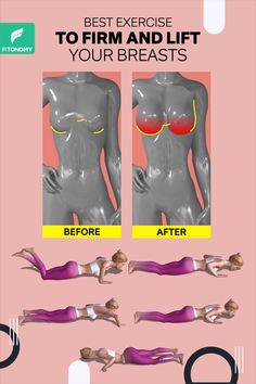 Do you wish your breasts were bigger? You can strength train your chest muscles to increase their mass, which will, in turn, make your whole chest look fuller and bigger. So give it a try to these exercises to lift your breasts naturally. Fitness Workouts, Gym Workout Videos, Gym Workout For Beginners, Fitness Workout For Women, Fitness Motivation, At Home Workout Plan, At Home Workouts, Health And Fitness Expo, Chest Muscles