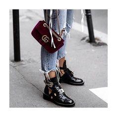 Balenciaga boots with cutouts!