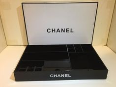 Chanel VIP Gift Large Make Up box Lipstick Brush Holder Qtips Cosmetic Organizer #ChaneI