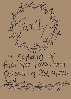 Image detail for -Primitive Patterns - Stitcheries - Samplers and Sayings - Family ...