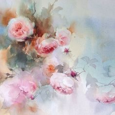 """Finished! """"Soft and sweet no.2"""" #watercolor #paint #painting #art #artist…"""
