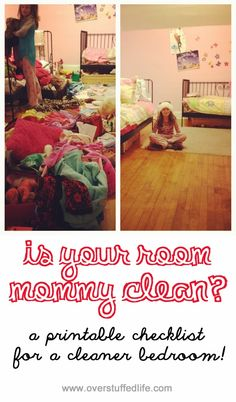 Is Your Room Mommy Clean?  Printable Checklist!