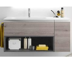 "Modular Vanity 48"" 1 Drawer-Shelf-Lateral With Soft Close And Basin Mi – The Bathroom Boutique"