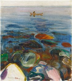 Edvard Munch, but I wonder what the title is....hmm, but I like it