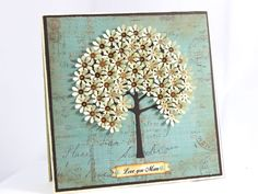 Mother's Day Handmade Card Love you Mom Card Flower Tree