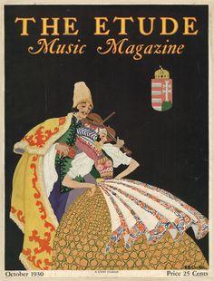 The Etude, music magazine cover, October 1930 Music Magazines, Old Magazines, Vintage Magazines, Vintage Advertising Posters, Vintage Advertisements, Vintage Posters, Ads, Magazine Images, Magazine Covers