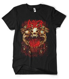 Slayer T-Shirt Merch official licensed music t-shirt. Gildan Unisex SoftStyle S, M, L, XL. FREE SHIPPING to USA, UK and worldwide from Indonesia takes 2-5 weeks. We have the biggest selection of music t-shirts, band t-shirts, and rock t-shirts. We are only retailer / seller who got permission to sell this t-shirt. All designs belong to the supplier. Please check the size chart carefully.