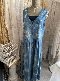 Excited to share this item from my #etsy shop: Womens, womens dresses, bleach dyed dress, bleached clothing, tied dyed clothing, vintage dresses Vintage Jumper, Bleach Dye, Chic Clothing, Tie Dyed, Vintage Dresses, Size 14, Shabby Chic, Etsy Shop, Tank Tops
