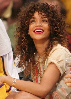 Rihanna's curly hair