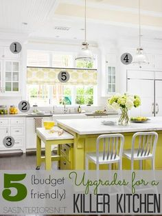 5 Budget-Friendly Upgrades for a Killer Kitchen - All DIY projects that can be tackled in a few hours for little money