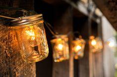 Mason Jar Strand with Lights