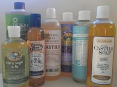 Different Brands of Eco-Friendly Liquid Castile Soaps  ~ Includes tips & soap & cleaner recipes!    |     Photo © Karen Peltier